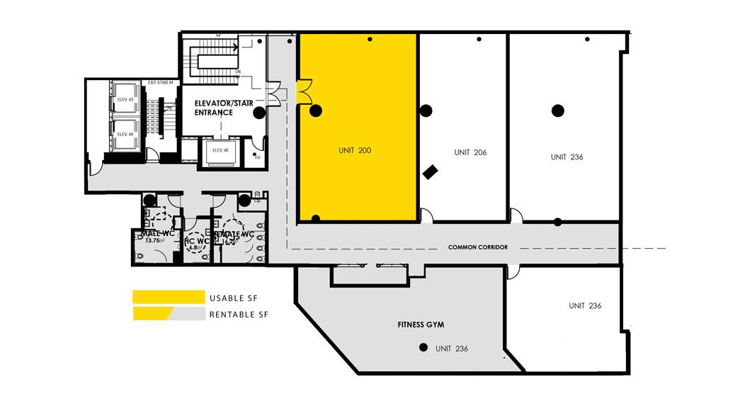 usable space plan